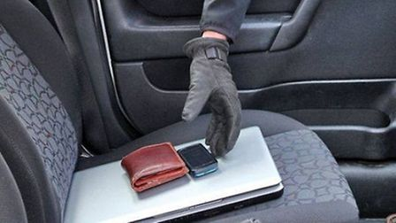 Chatteris Police are warning drivers to remove their valuables when parked. PHOTO: Cambs Police