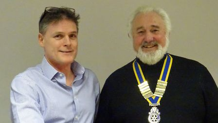 The Ely Hereward Rotary Club welcomed new member Stuart Fowler at their last meeting of 2017. He is