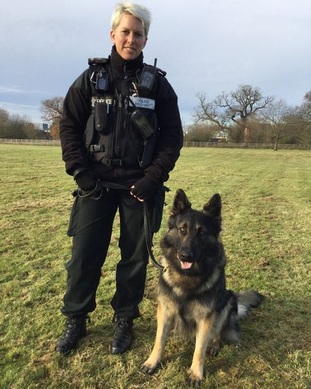 PC Lindsey Cox and PD Harley11 - It will be business as usual across the Cambs Police with officers
