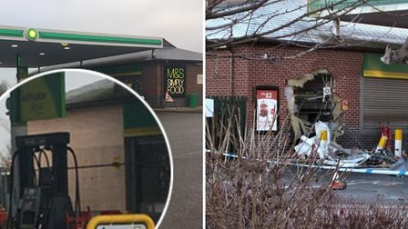 The BP garage at Littleport has re-opened after a teleporter and a fork lift truck was used in a mid