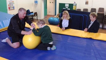 Testing out the new equipment at Highfields Schoool, Ely.