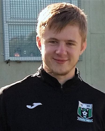 Littleport Town Reserves player Will Rolls, who stepped up as manager. PHOTO: Cathy Gibb-de Swarte.