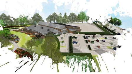 Barcham Trees - 3D imagery of their new visitor centre, aboretum and shop at Soham