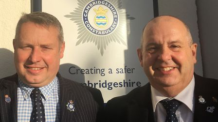 Cllr Ray Bisby, left, was formally endorsed as deputy police and crime commissioner by commissioner