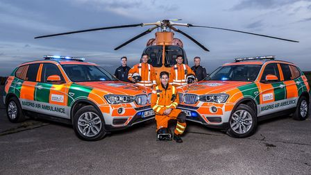 Magpas Air Ambulance has had a record number of call-outs in 2017. Photo: Rob Holding