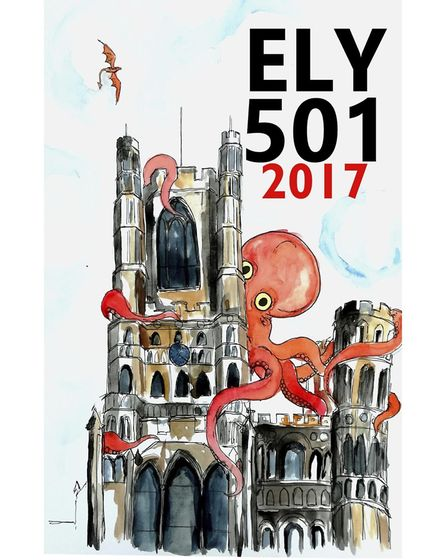Last year's Ely 501 front cover by Will Sedgwick.