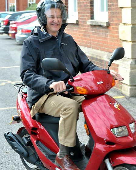 Fenland District Councillor John Clark, arriving at Fenland Hall for the election of a new leader.