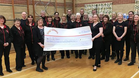"""Sing! Choirs donates over £3,000 to new local charitable organisation """"All In Sound"""" in support of t"""