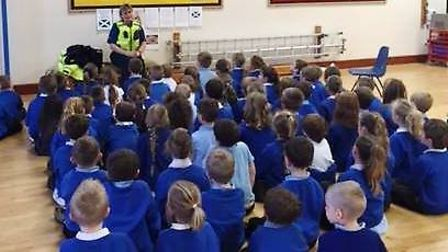 PCSO Magdalena Harvey visited Millfield Primary School today in Littleport.
