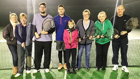 Team Chatteris to play against Great Britain's tennis stars. Left to right: fundraising organiser Ka