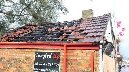 Tangled Up hair salon at 103 High Street, March, has been boarded up following a fire overnight.