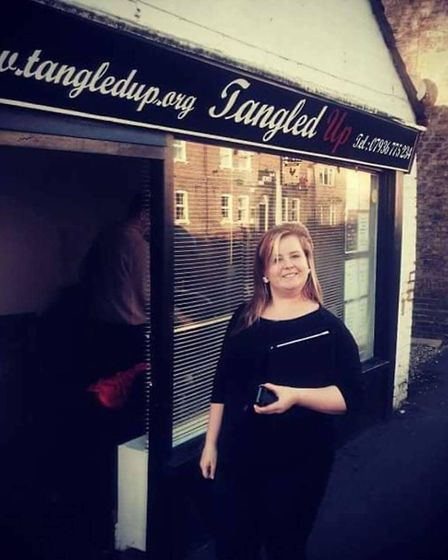 Salon owner Charlotte Stonier pictured outside Tangled Up at the end of December.