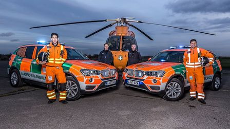 The Magpas Air Ambulance called to treat a man with 'serious injuries' following at 'tree vs car' in