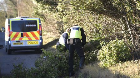 Storm wakes Fenland residents: 'Storm PCSO's' cutting fallen trees North Brink Wisbech. Photo: Ian C