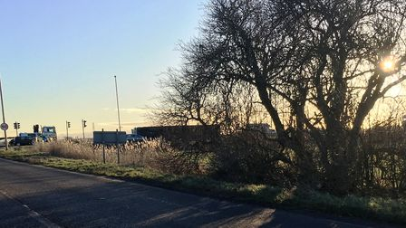Storm wakes Fenland residents: Cambs Times reader spots an overturned lorry on the A141.
