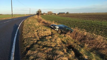 """Police in Cambridgeshire are telling road users to """"drive carefully"""" after ice covers Fenland roads."""