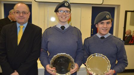 1094 City of Ely Squadron Air Cadets celebrate their achievements at annual awards evening. Photo: M