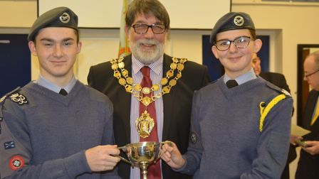 Councillor Richard Hobbs, mayor of Ely - 1094 City of Ely Squadron Air Cadets celebrate their achiev