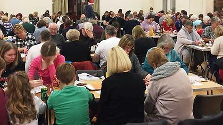 Charity bingo night in aid of The Fire Fighters Charity.