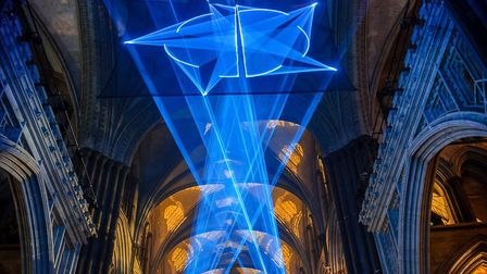 An eye catching light display inspired by the Star of Bethlehem is currently on show at Ely Cathedra