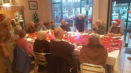 Paninis Coffee Shop in March held their annual Christmas Day dinner. PHOTO: Dave Humphrey