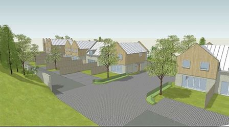 Indicative layout of 19 homes agreed on former quarry site at Swaffham Bulbeck