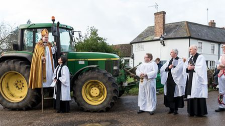 January: A tractor was blessed during Plough Sunday at Thaxted Church by Chelmsford Diocese's agricu