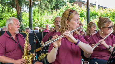 June: Dunmow Wind Band delighted throughout the year, but pictured here playing for picnickers at Ju