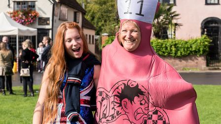 September: There were some unusual costumes at the 2017 Finchingfield Three-legged Race. Picture: SA