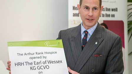 Prince Edward, the Earl of Wessex, in Cambridgeshire to open the £10.5 million Arthur Rank Hospice a