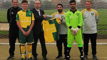 Alex Kaufman (third right) is the new Chatteris Town manager.