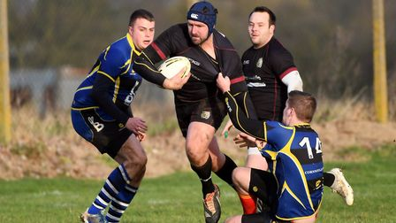 March Bears in action during a 47-28 win against St Ives 2nds this season. Picture: IAN CARTER