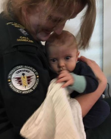 Sue Lamonte met with baby Timothy and his parents this week after helping with his safe arrival.