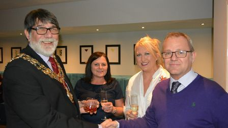 Mayor of Ely Councillor Richard Hobbs at Ely's new cocktail bar and venue 11a on Fore Hill. He is pi