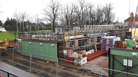 Work on the apartments at King's Row, Ely for Palace Green Homes