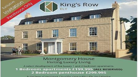 Impression of what the completed apartments at King's Row will look like
