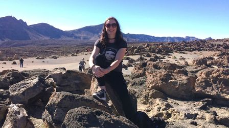 Kath Sansom enjoys a break to Tenerife . Here at the volcanic national park of Mount Tiede. PHOTO: S