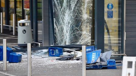 Ram raid over night at Aldi, Chatteris. The raiders left behind a vehicle used in the robbery.