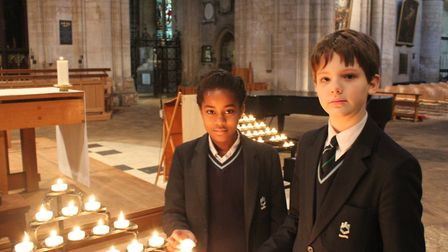 King's Ely students pay their respects at Holocaust Memorial Service
