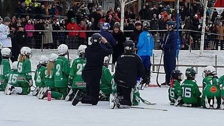 The Duke and Duchess of Cambridge try their hand at bandy in Stockholm, Sweden. PHOTO Cathy Gibb-de
