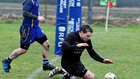 March Bears score one of their 13 tries against St Ives 2nds. Picture: IAN CARTER