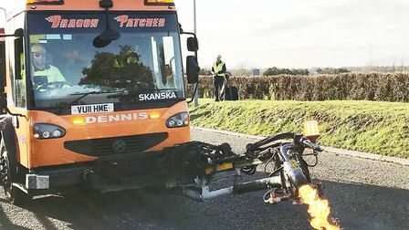Dragon patcher that is capable of tackling up to 150 potholes a day