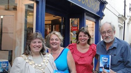 Susan Harrison (second left) pictured with Cllr Elaine Griffin-Singh, Annabel Reddick and Cllr Mike