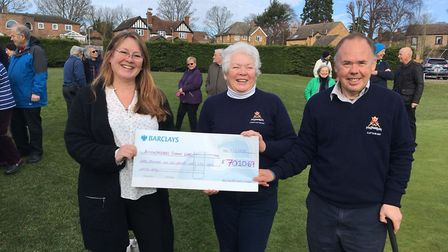 Ely Golf Club captains raise over £7,000 for the Addenbrooke's stroke ward.