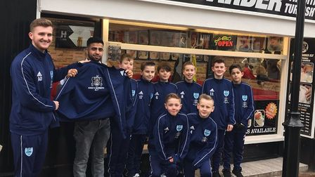 On Tuesday 13th February, some of the Witchford Colts FC U12's squad went to say a big thank you to