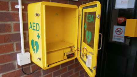 The defibrillator mounting.Picture: Brian Swan