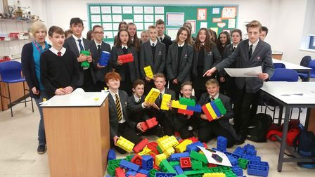 Students completed the water supply challenge and Lego build time trials by working in small teams t