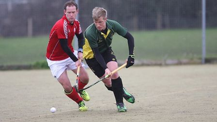Tom Grimshaw of Ely City Mens 1s in their game against Cambs City 4s. PHOTO: Steve Wells