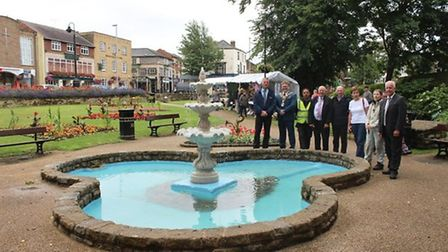This picture was taken in July 2017 - Wisbech fountain runs again after vandalism forces major repai