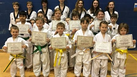 100 per cent pass rate for Ely Tae Kwon-Do students. Ely Juniors Stage 1